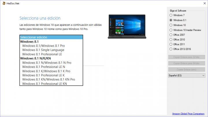 Imagen - Descarga la ISO original de cualquier versión de Windows u Office