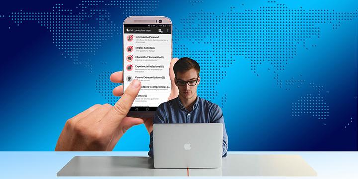 Crea tu CV desde el móvil o tablet con Currículum gratis