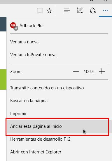 Imagen - Cómo añadir páginas web al menú de Inicio de Windows 10