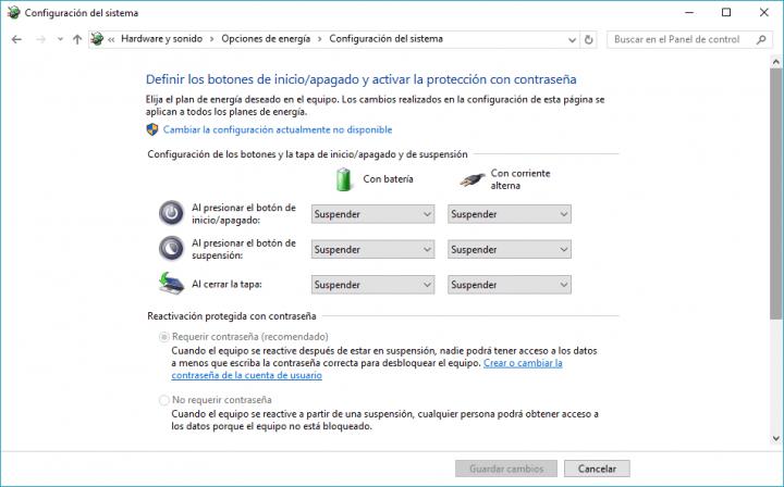 Imagen - Cómo configurar las opciones de energía en Windows 10