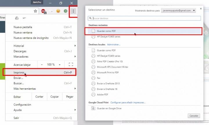 Imagen - Cómo guardar una web en PDF desde tu móvil y ordenador