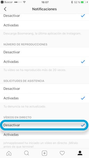 Imagen - Cómo desactivar las notificaciones de vídeos en directo en Instagram