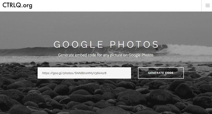 Cómo insertar fotos de Google Fotos en cualquier web