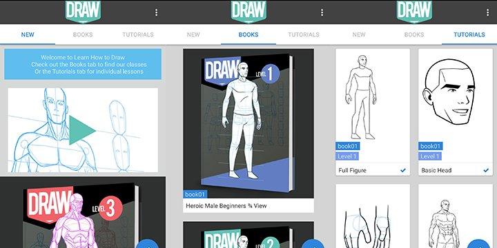 Aprende a dibujar, la app que enseña a dibujar a través de distintas técnicas