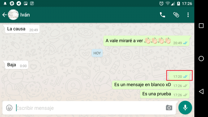 Imagen - Envía mensajes en blanco por WhatsApp