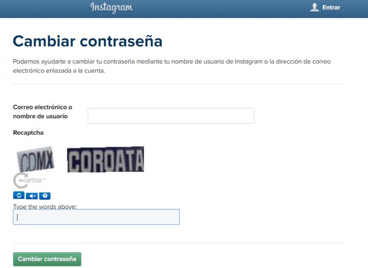 Imagen - Cómo recuperar la contraseña de Instagram