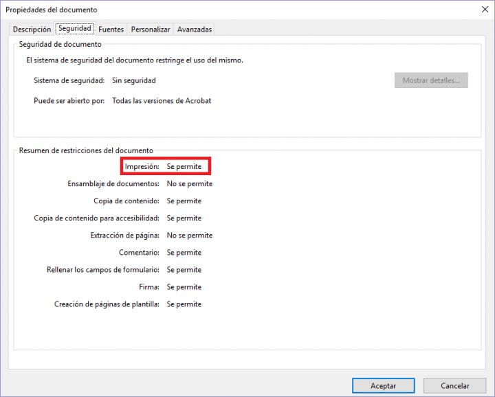 Imagen - Cómo saber si un documento PDF se puede imprimir