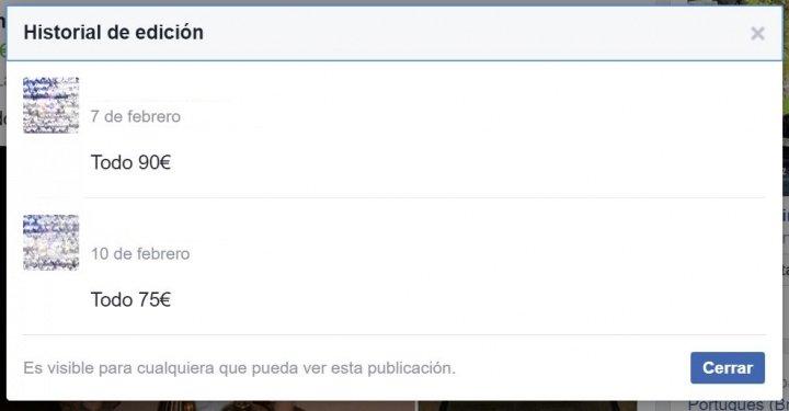 Imagen - Cómo saber si una publicación de Facebook ha sido editada