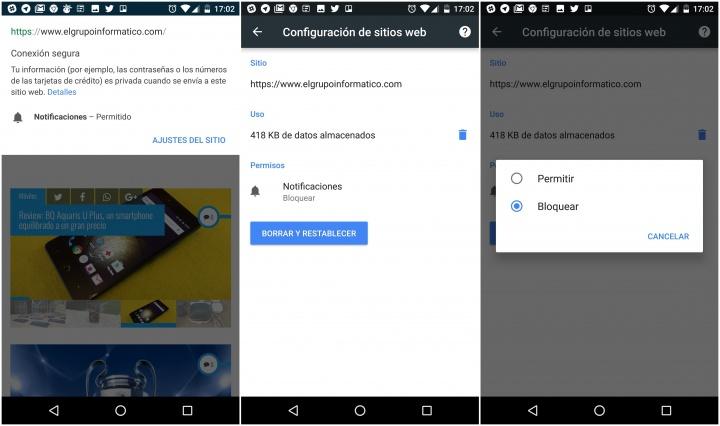 Imagen - Cómo eliminar las notificaciones de Chrome en Android