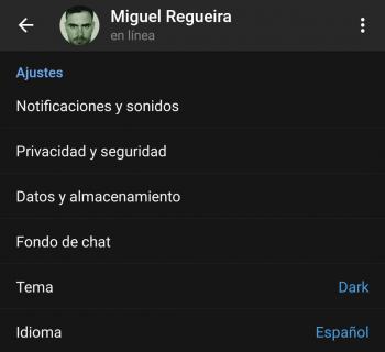 Imagen - Cómo restaurar el tema por defecto de Telegram