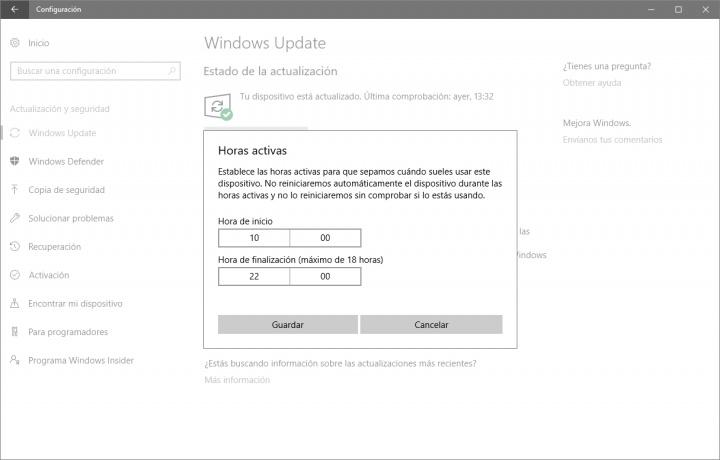 Imagen - Cómo evitar reinicios forzosos en Windows 10