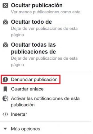 Imagen - Cómo denunciar una publicación en Facebook