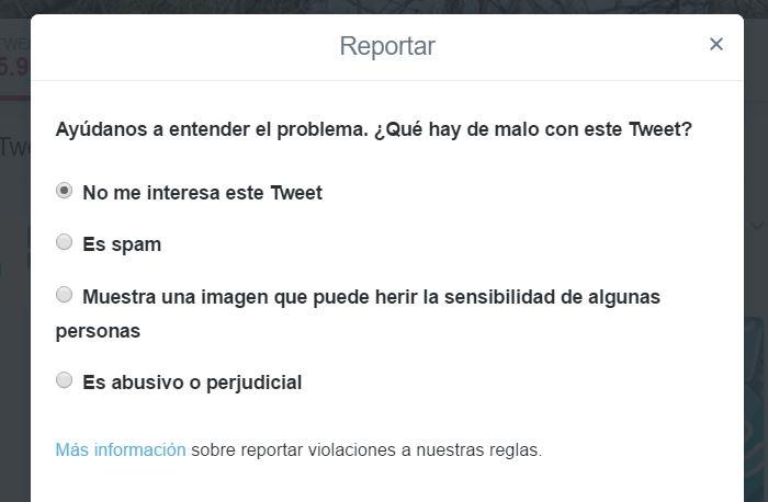 Imagen - Cómo denunciar una publicación en Twitter
