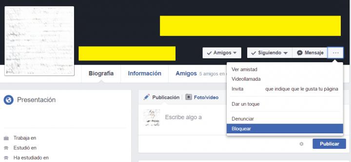 Imagen - Cómo bloquear a alguien en Facebook