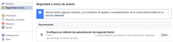 Imagen - Cómo cambiar la contraseña de acceso de Facebook