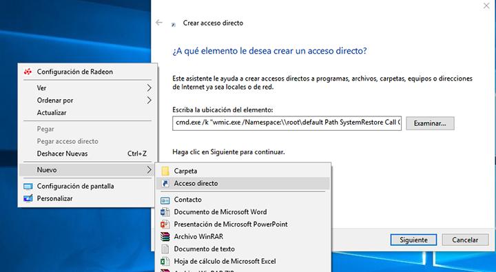 Imagen - Crea un punto de restauración en Windows 10 con dos clics