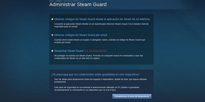 Imagen - Cómo activar la verificación en dos pasos en Steam
