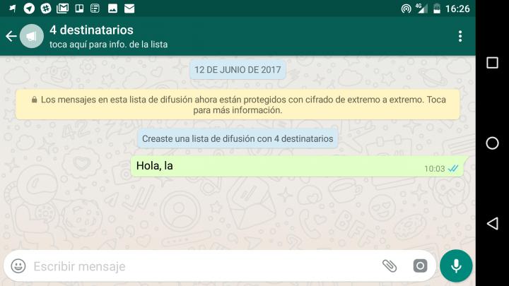 Imagen - Cómo enviar un mismo mensaje a varios contactos de WhatsApp al mismo tiempo