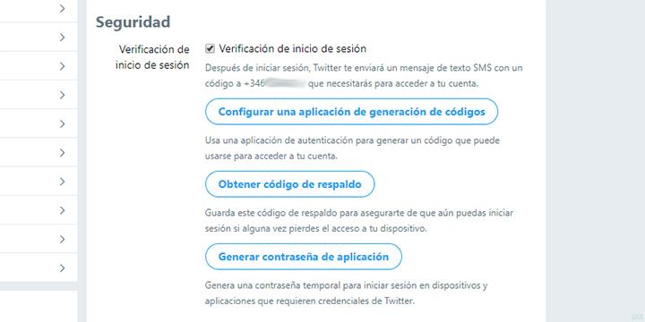 Imagen - Cómo activar la verificación en dos pasos en Twitter