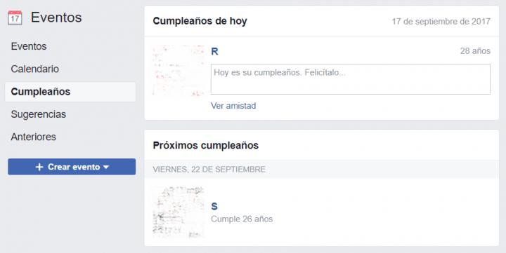 Imagen - Cómo ver los cumpleaños de tus amigos de Facebook