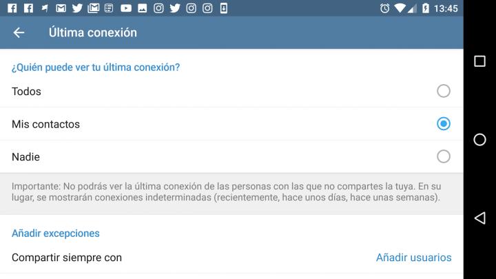 Imagen - Cómo ocultar la última conexión en Telegram