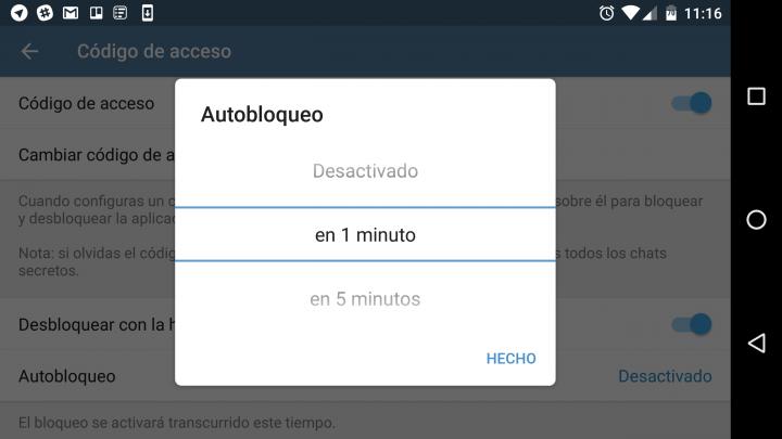 Imagen - Cómo bloquear Telegram automáticamente