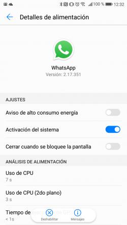 Imagen - Cómo solucionar los problemas con las notificaciones de WhatsApp en Huawei EMUI