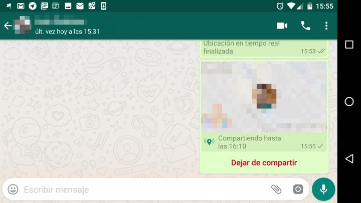 Imagen - Cómo funciona la ubicación en tiempo real de WhatsApp