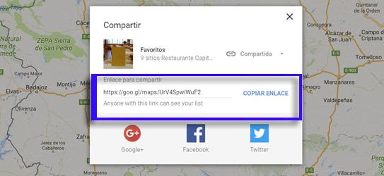 Imagen - Cómo compartir tu lista de sitios favoritos de Google Maps desde tu PC o portátil