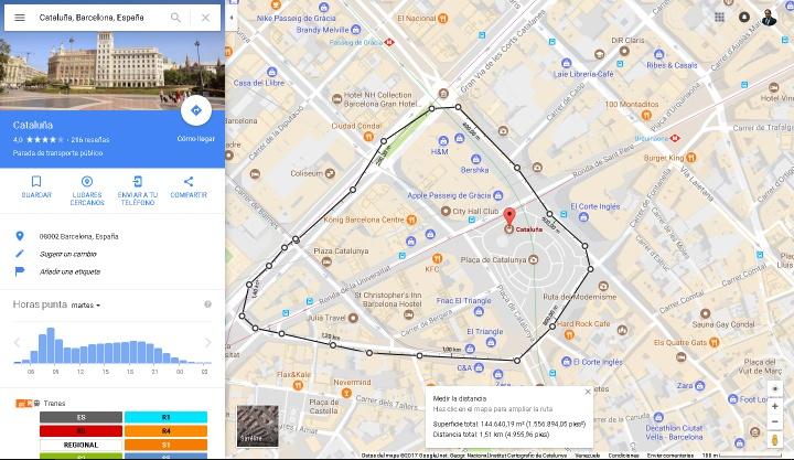 Imagen - Cómo saber las cifras de las manifestaciones usando Google Maps