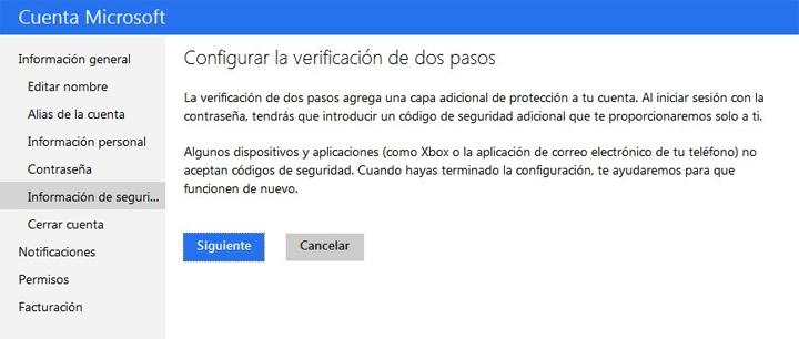 Imagen - Protege tu cuenta Outlook con la verificación en dos pasos