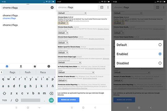 Imagen - Cómo cambiar la barra de búsqueda de Chrome a la parte inferior o superior