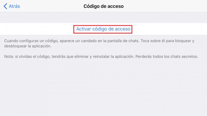 Imagen - Cómo bloquear el acceso a Telegram con un código