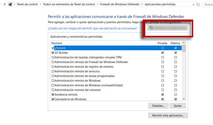 """Imagen - Cómo evitar que """"Firewall de Windows"""" bloquee una aplicación"""