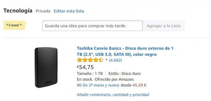 Imagen - Cómo guardar artículos en Amazon