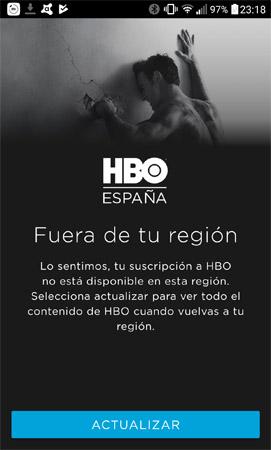 """Imagen - ¿Qué significa el error """"Fuera de tu región"""" en HBO?"""