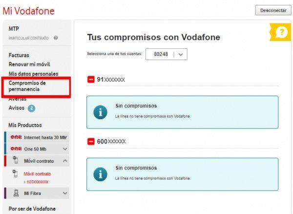 Imagen - Cómo consultar gratis la permanencia desde Mi Vodafone