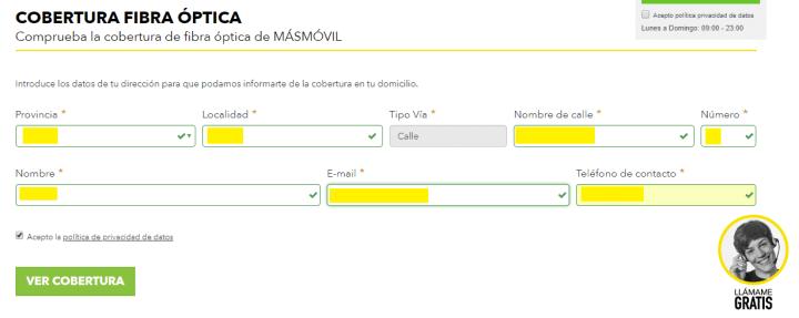 Imagen - Cómo consultar la cobertura de fibra MásMóvil