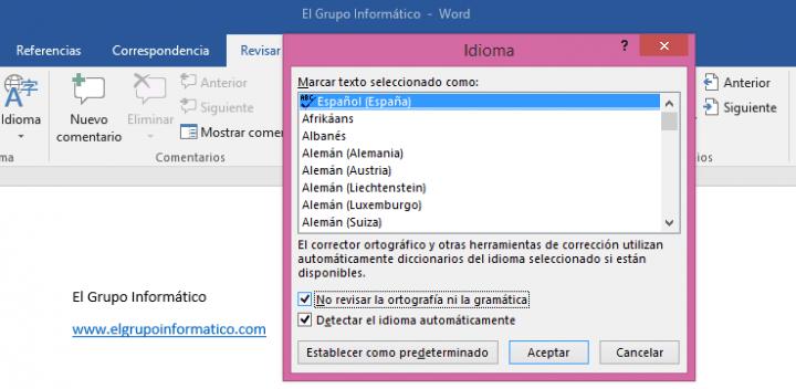 Imagen - Cómo desactivar el corrector de Word