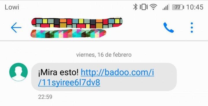 """Imagen - ¿Qué son los SMS con """"¡Mira esto!"""" y un enlace a Badoo?"""