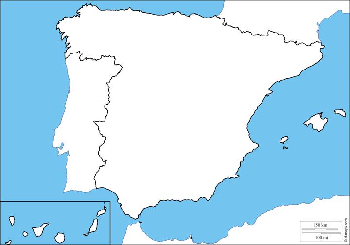 Imagen - 9 plantillas del mapa de España