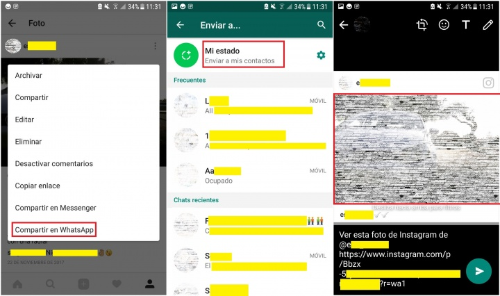 Imagen - Cómo compartir fotos de Instagram en los Estados de WhatsApp