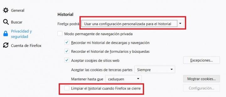 Imagen - Cómo eliminar la caché en Firefox