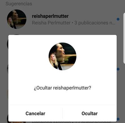 Imagen - Cómo eliminar las sugerencias de búsqueda en Instagram