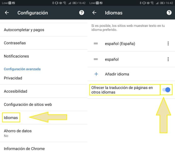 Imagen - Cómo activar la traducción automática de Chrome en Android