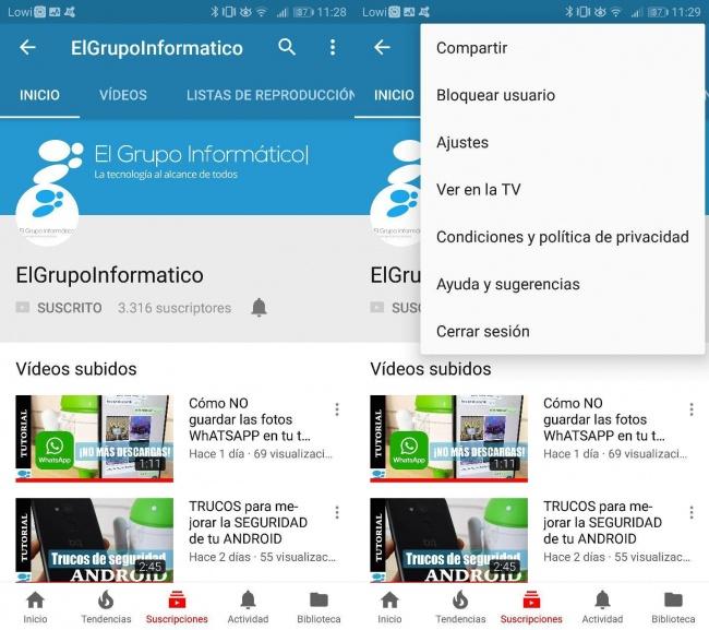 Imagen - Cómo borrar el historial de búsquedas de YouTube en Android