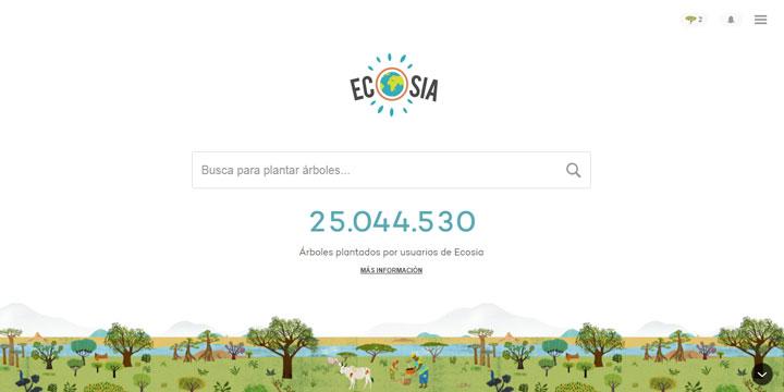 """Ecosia, el """"Google"""" que dedica sus ingresos a reforestar bosques"""