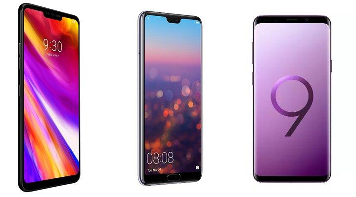 Comparativa: LG G7 ThinQ vs. Galaxy S9 Plus vs. Huawei P20 Pro
