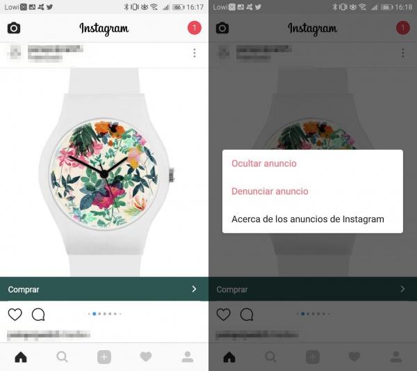 Imagen - Cómo ocultar los anuncios en Instagram