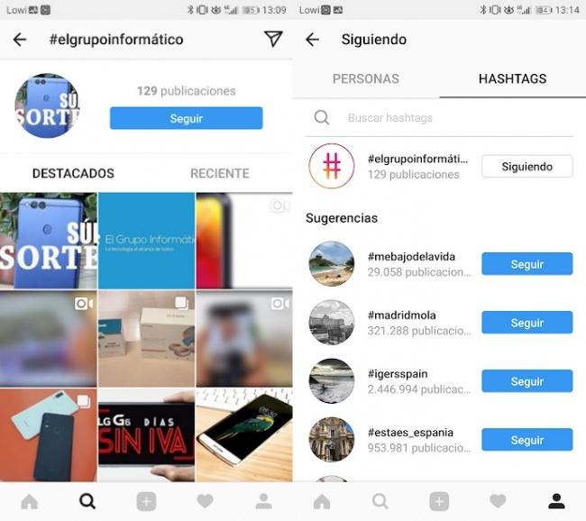 Imagen - Cómo seguir hashtags en Instagram
